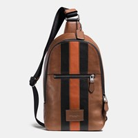 Coach Modern Varsity Campus Pack In Sport Calf Leather Black Antique Nickel Dark Saddl