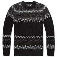 Chamula Fair Isle Pullover Knit Black