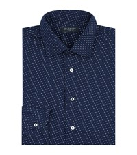 Harrods Printed Cotton Shirt Navy