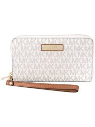 Michael Michael Kors Zip Around Phone Pouch Women Leather One Size Nude Neutrals