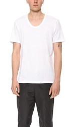Alexander Wang T By Classic Low Neck Tee White
