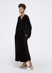 Dusan 'S New Velvet Gaucho Pants In Black Size Small 100 Polyester