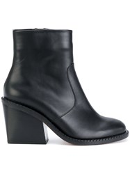 Robert Clergerie Mayan Ankle Boots Leather Black