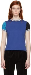Opening Ceremony Blue Banded Neck T Shirt
