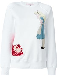 Olympia Le Tan Alice In Wonderland Patch Sweatshirt White