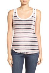 Stateside Stripe Rib Knit Tank White