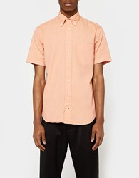 Gitman Brothers Vintage Iridescent Chambray Ss Button Down Peach