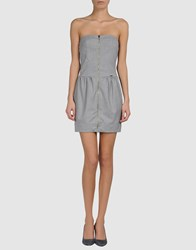 Met Dresses Short Dresses Women Grey