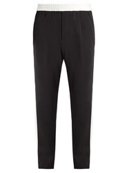Berluti Side Stripe Wool Blend Trousers Black