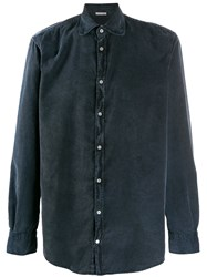 Massimo Alba Long Sleeve Fitted Shirt Blue