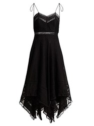 Zimmermann Juno Cotton And Lace Scarf Dress Black