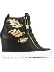 Giuseppe Zanotti Design Wedge Sneakers Black