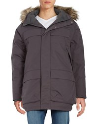 Spyder Rail Faux Fur Trimmed Hooded Down Parka Black