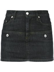 Helmut Lang Vintage Short Denim Skirt Black