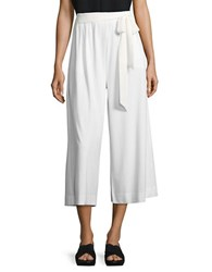Joan Vass Solid Cropped Culottes White