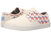 Toms Paseo Democrat Donkeys Natural Men's Lace Up Casual Shoes Beige
