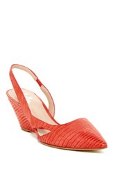 Belle By Sigerson Morrison Wanda D'orsay Slingback Wedge Red