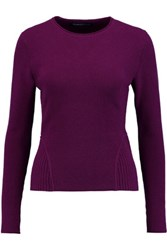 Pringle Of Scotland Fluted Cashmere Sweater Purple