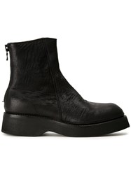Julius Rear Zip Ankle Boots Black