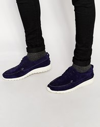 Shoe The Bear Ohh Suede Trainers Navy