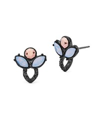 Jenny Packham Crystal And Rose Opal Stud Earrings Pink