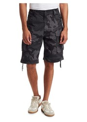 G Star Rovic Loose Camouflage Shorts Black