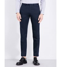 Brioni Megeve Cotton Twill Trousers Navy