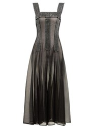 Christopher Kane Crystal Embellished Sheer Dress Black