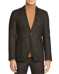 0909 Birdseye Slim Fit Sport Coat 100 Bloomingdale's Exclusive Black Brown