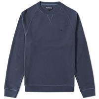 Barbour Garment Dyed Crew Sweat Blue