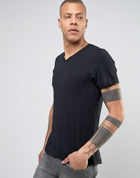 Produkt V Neck T Shirt With Pocket Black