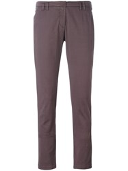 Eleventy Slim Fit Trousers Pink Purple