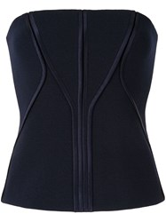 Dion Lee Annex Bustier Top Blue