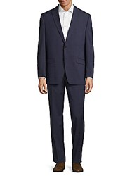 Lauren Ralph Lauren Solid Wool Suit Navy