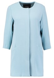 Mbym Bella Short Coat Smoke Light Blue
