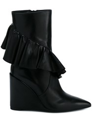 J.W.Anderson Frill Detail Boots Black