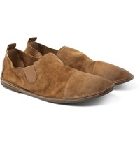 Marsell Washed Suede Loafers Brown