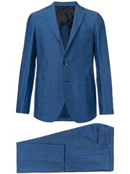 Doppiaa Slim Fit Formal Suit Blue