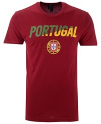 Fifth Sun Portugal National Team Gym Wedge World Cup T Shirt Maroon Green Yellow
