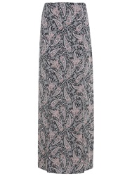 Miss Selfridge Paisley Maxi Skirt Nude