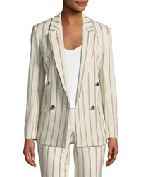 Baandsh Fedor Striped Double Breasted Blazer Multi