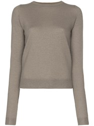 Rick Owens Knitted Cashmere Jumper Grey