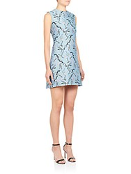 Mary Katrantzou Jacquard A Line Dress Blue