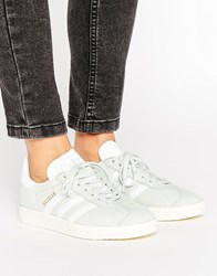 Adidas Originals Pastel Mint Gazelle Trainers Linen Green