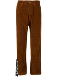 Palm Angels Corduroy Jeans Brown