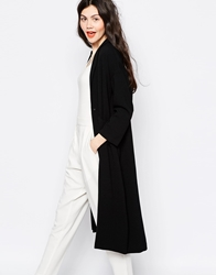 Monki Lana Soft Coat Black