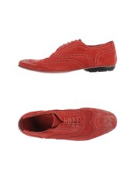 Brian Dales Lace Up Shoes Brick Red