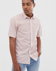 Only And Sons Short Sleeve Stripe Shirt Pink