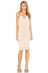 Misa Los Angeles Domino Midi Dress Tan