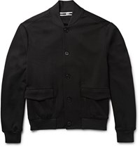 Mcq By Alexander Mcqueen Jersey Bomber Jacket Black